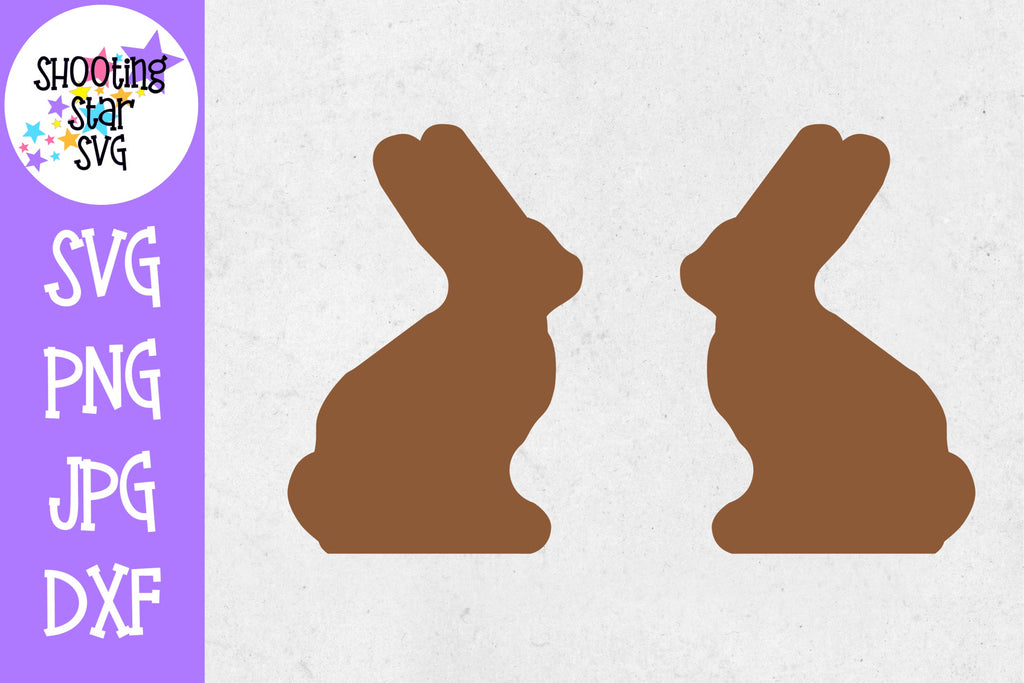 Blank Chocolate Bunny SVG - Easter SVG