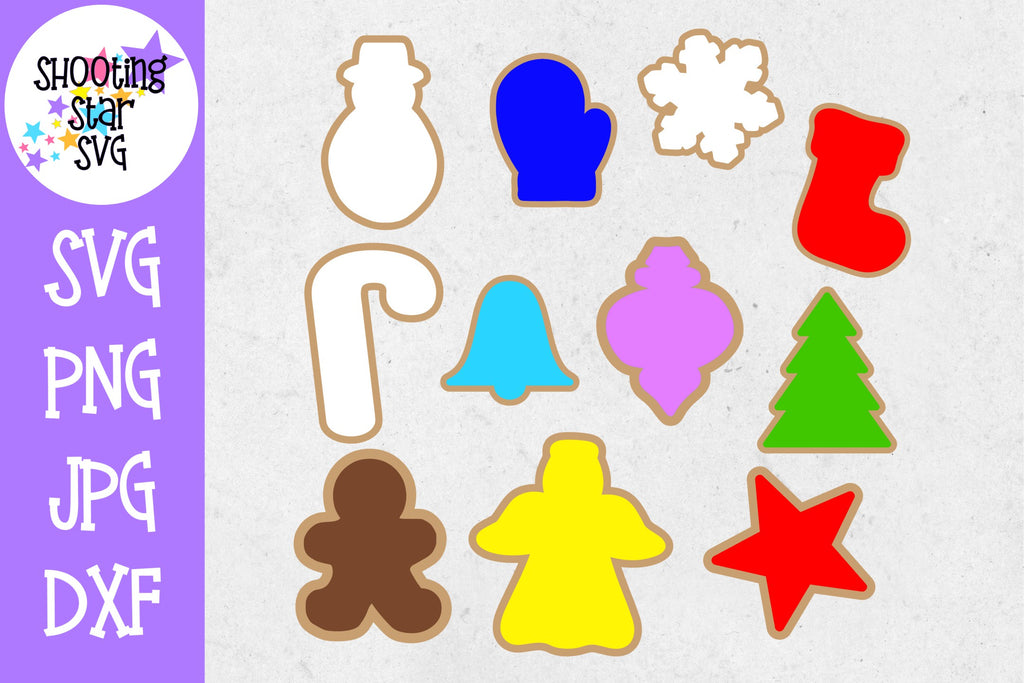 Christmas Cookie Shapes - Christmas SVG