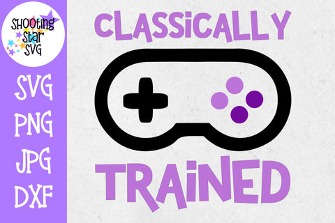Classically trained - video game svg