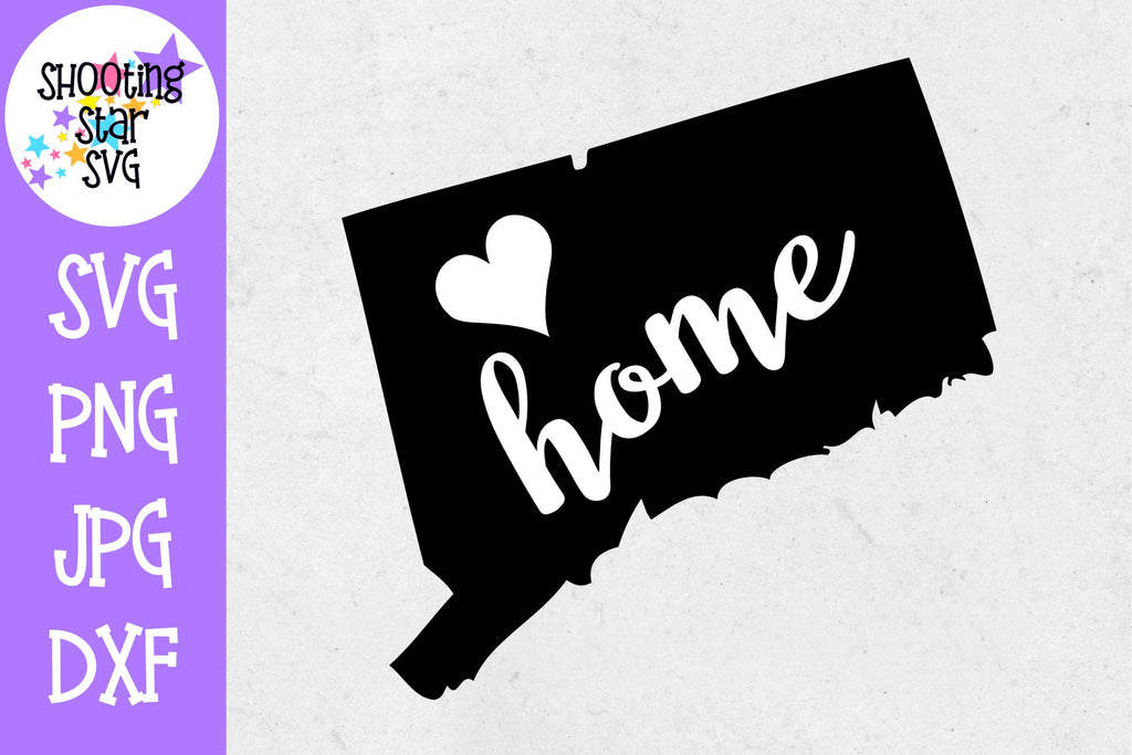 Connecticut State Home with Heart SVG - 50 States SVG - United States SVG