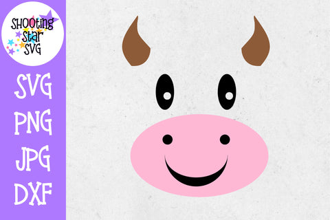 Cow Face SVG - Farming SVG - Children's SVG