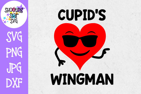 Cupid's Wingman SVG - Valentine's Day SVG