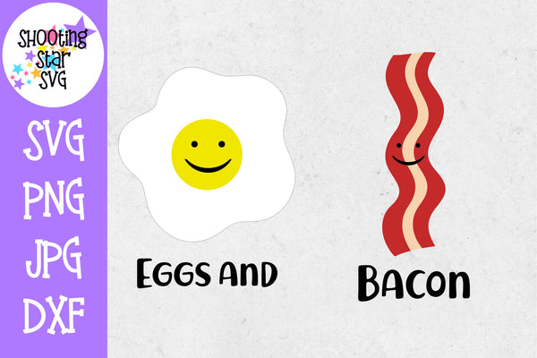 Eggs and Bacon - Twin Bodysuit SVG