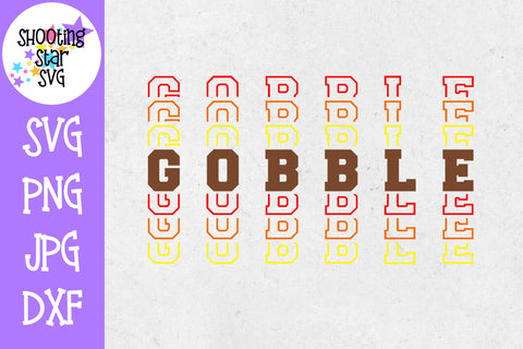 Mirrored Gobble SVG - Thanksgiving SVG