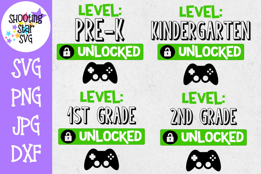 Grades Unlocked School Grade Milestones - School Milestones SVG - Last Day of School SVG - Bundle