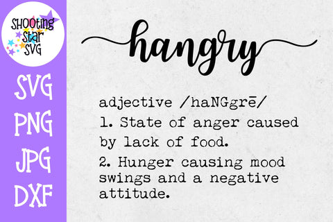 Hangry Definition SVG - Funny Definition SVG