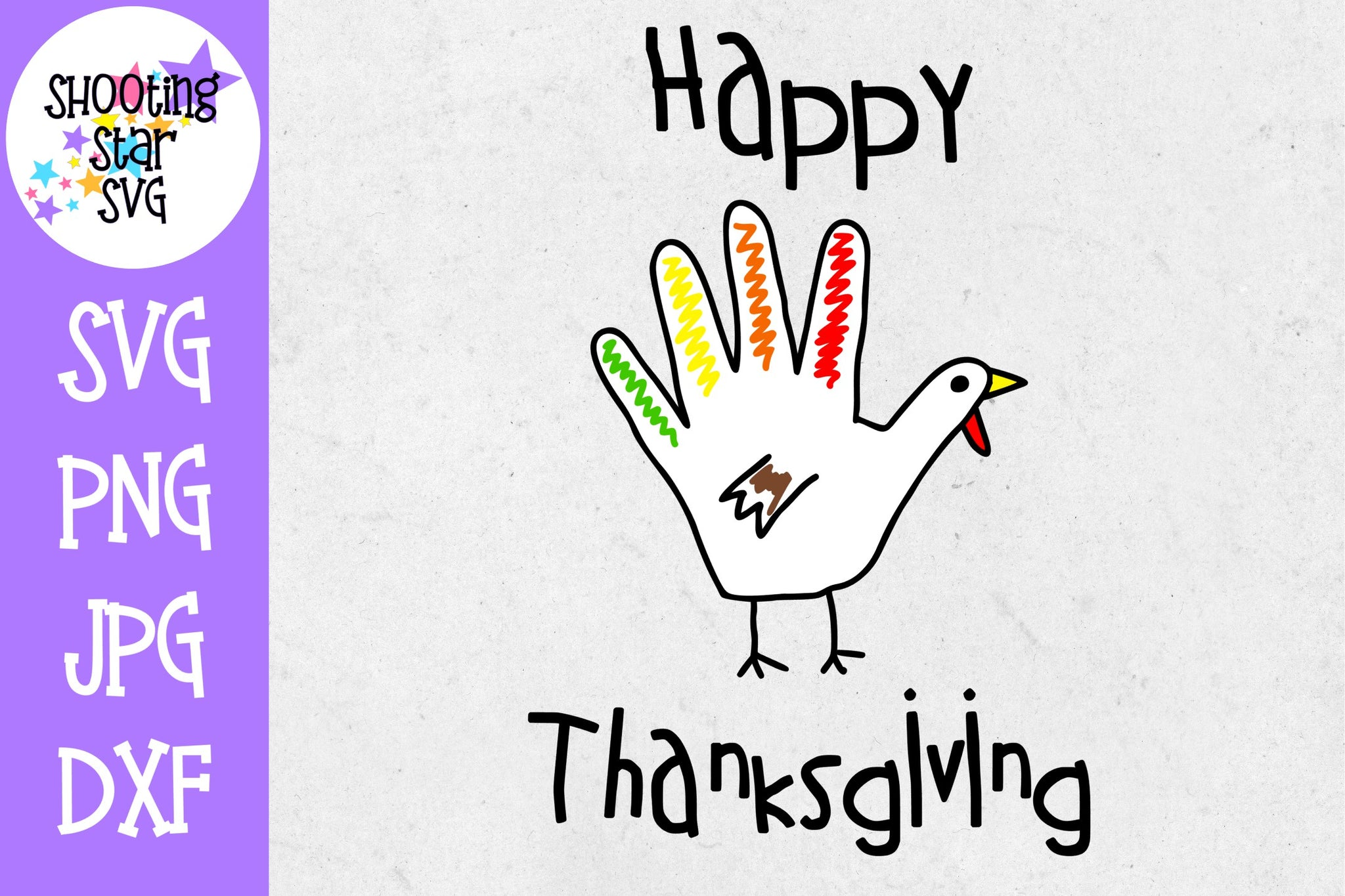 Happy Thanksgiving Turkey Hand SVG - Thanksgiving SVG
