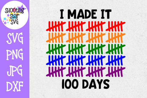 I Made it 100 Days SVG - 100 Days of School SVG