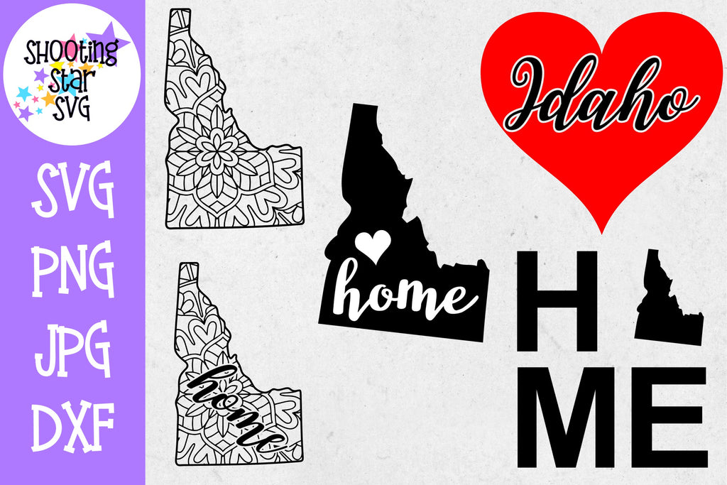 Idaho US State SVG Decal Bundle - 50 States SVG