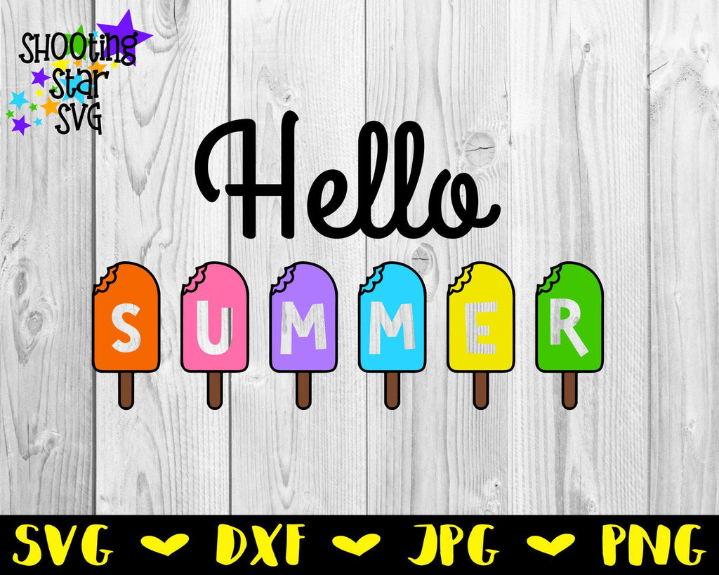 Hello Summer with Popsicles SVG - Summer SVG