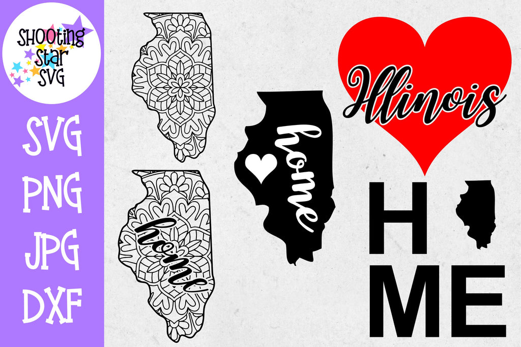 Illinois US State SVG Decal Bundle - 50 States SVG