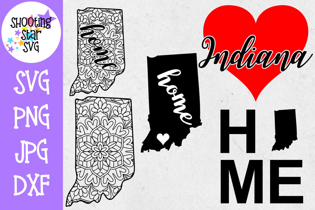 Indiana US State SVG Decal Bundle - 50 States SVG