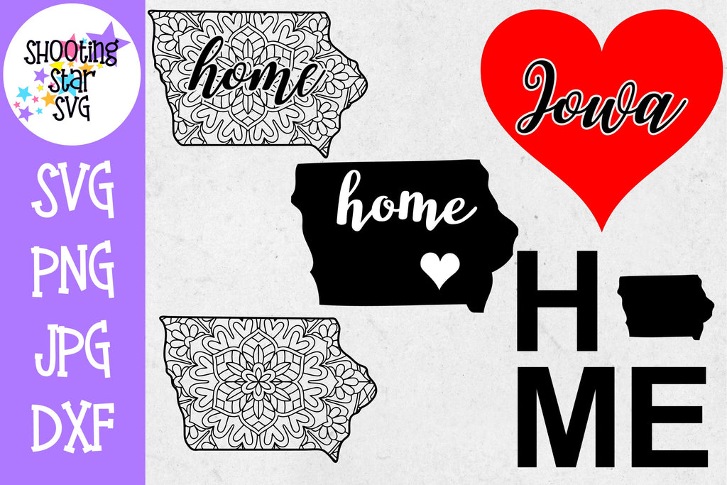 Iowa US State SVG Decal Bundle - 50 States SVG