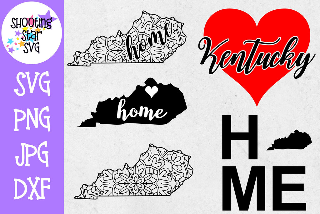 Kentucky US State SVG Decal Bundle - 50 States SVG