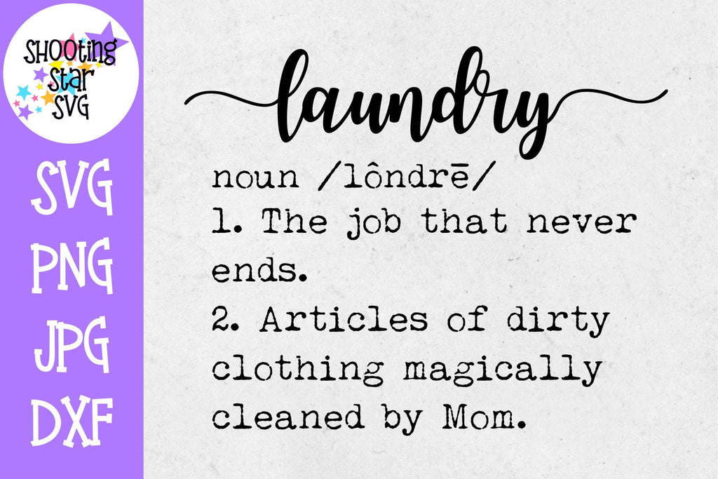 Laundry Definition SVG - Funny Laundry Definition - Decor