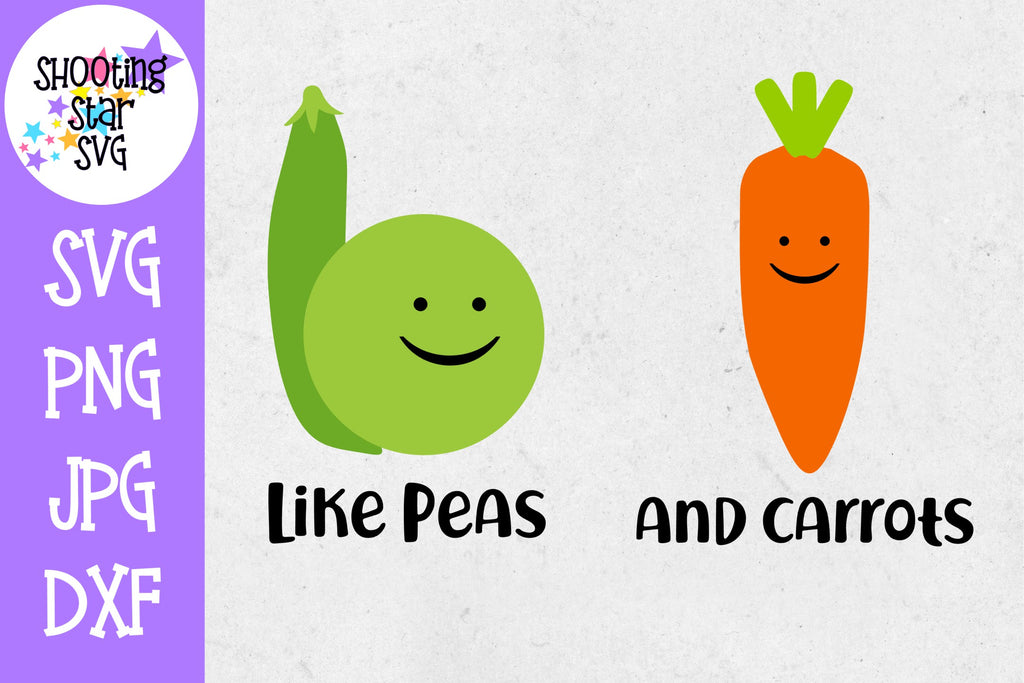Like Peas and Carrots - Twin Bodysuit SVG
