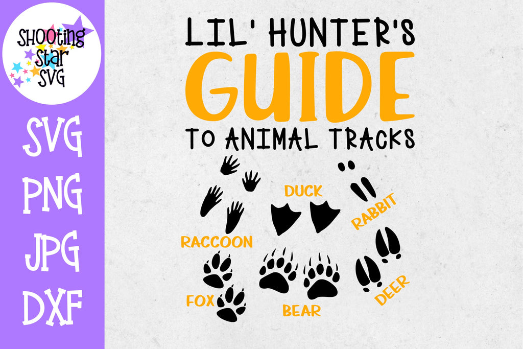 little hunter's guide Animal Tracks - Children's SVG