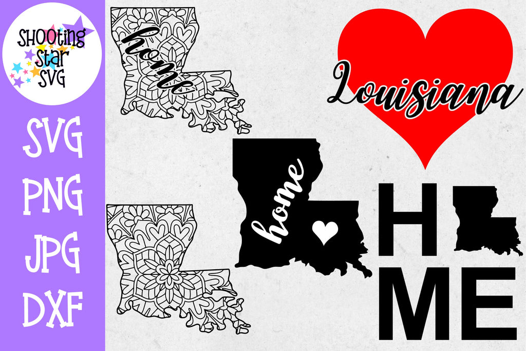 Louisiana US State SVG Decal Bundle - 50 States SVG