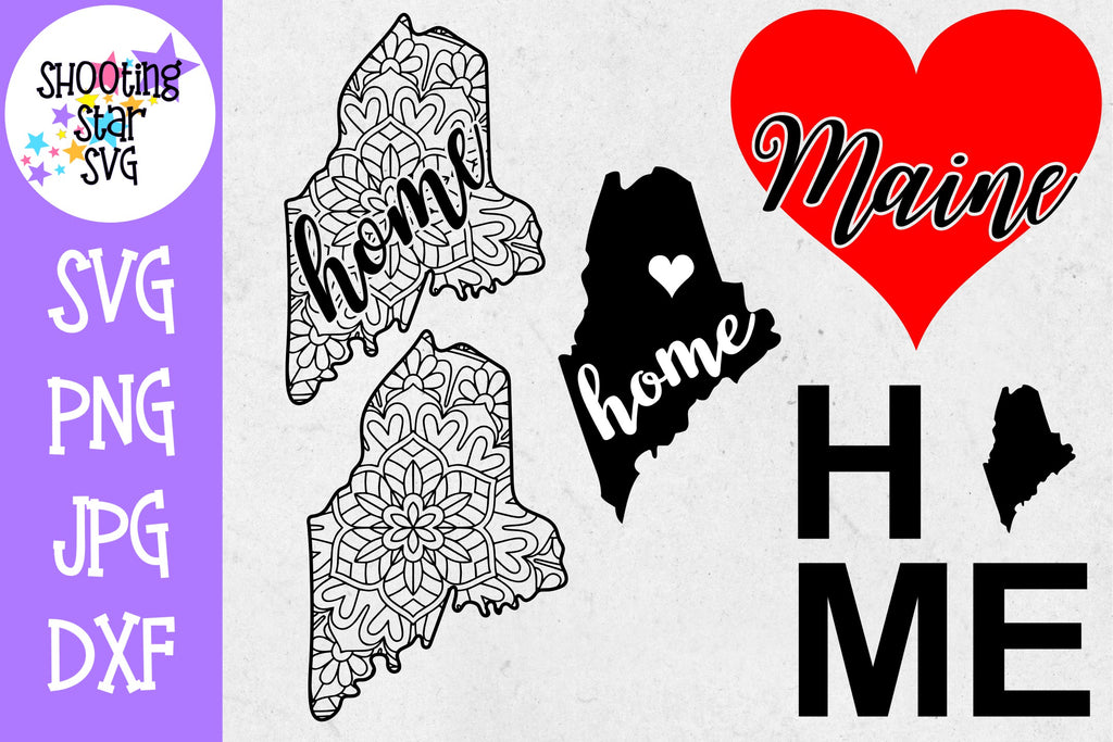 Maine US State SVG Decal Bundle - 50 States SVG