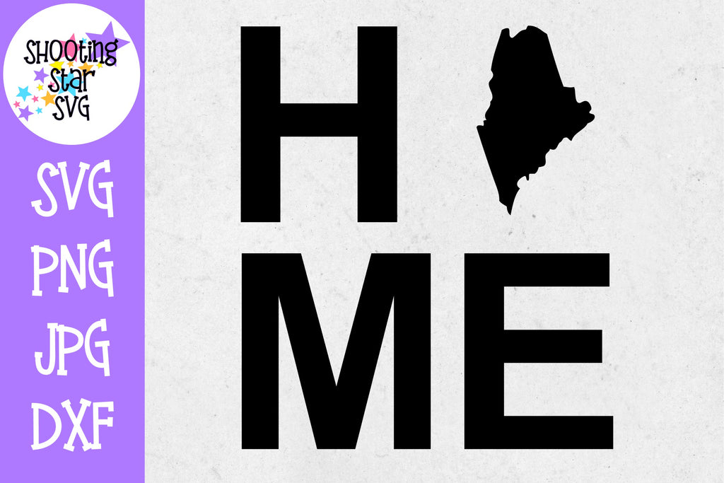 Maine State Home with State Outline SVG - 50 States SVG - United States SVG