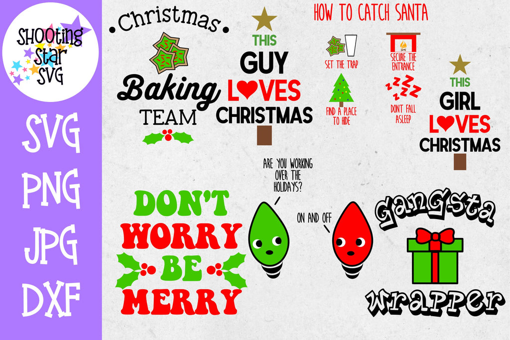 Mini Christmas SVG Bundle - Christmas SVG - Christmas Bundle