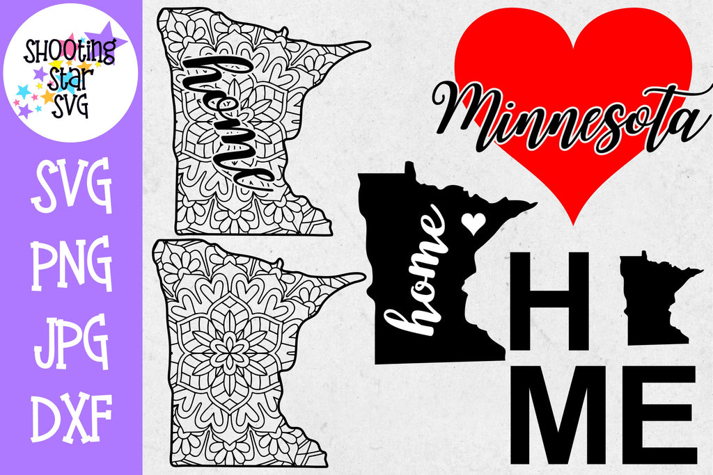 Minnesota US State SVG Decal Bundle - 50 States SVG