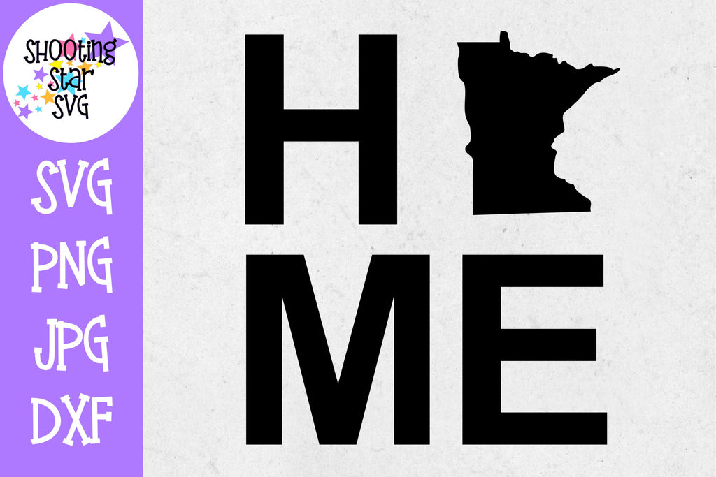 Minnesota State Home with State Outline SVG - 50 States SVG - United States SVG
