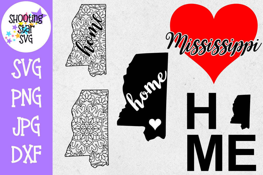 Mississippi US State SVG Decal Bundle - 50 States SVG