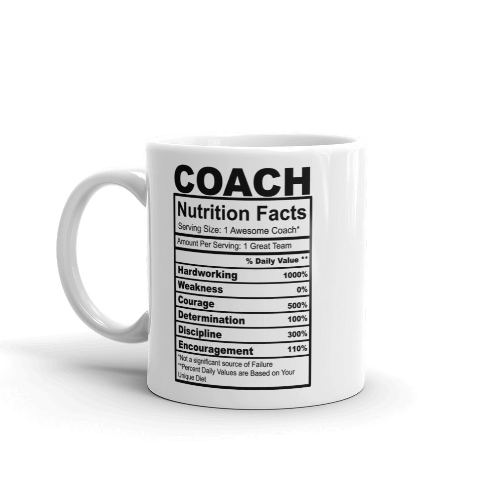 Coach Nutrition Facts Coffee Mug