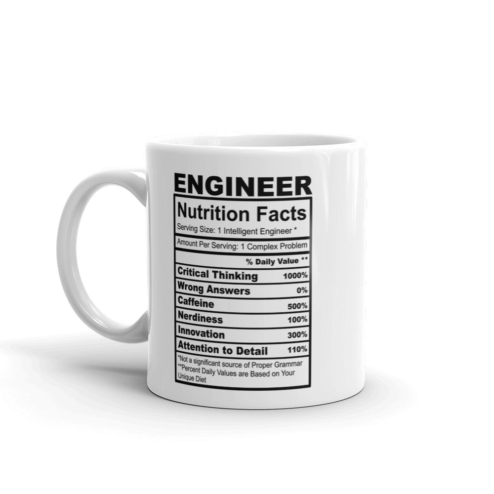 Engineer Nutrition Facts Coffee Mug
