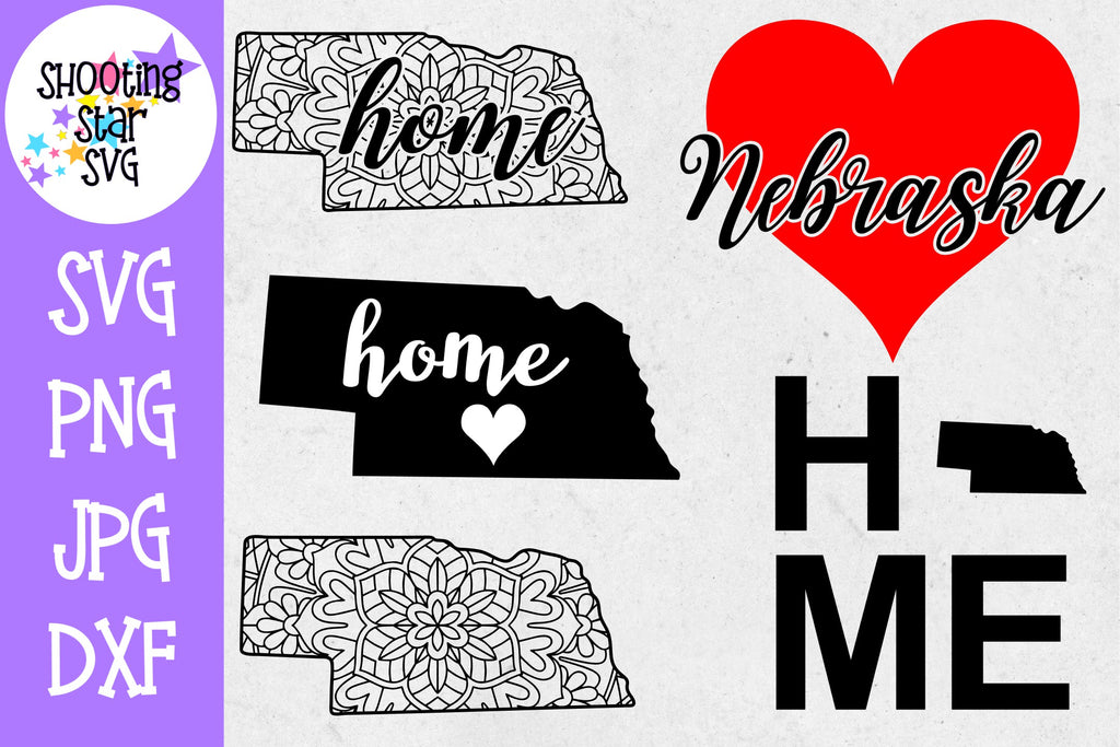 Nebraska US State SVG Decal Bundle - 50 States SVG