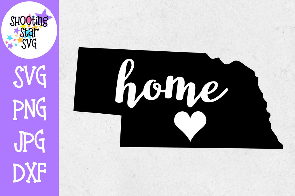 Nebraska State Home with Heart SVG - 50 States SVG - United States SVG