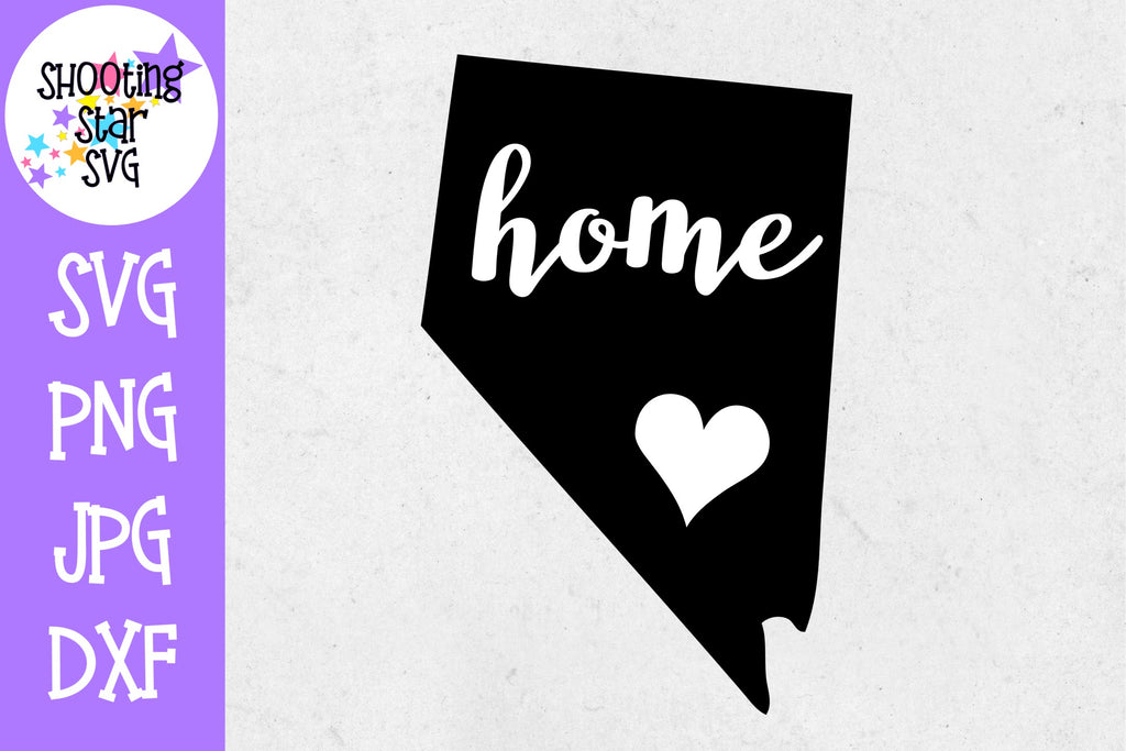 Nevada State Home with Heart SVG - 50 States SVG - United States SVG