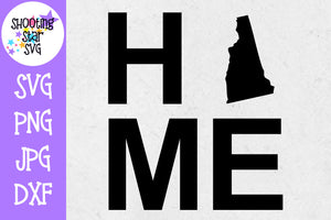 New Hampshire State Home with State Outline SVG - 50 States SVG - United States SVG