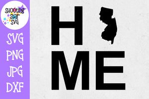 New Jersey State Home with State Outline SVG - 50 States SVG - United States SVG