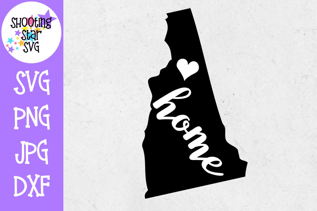 New Hampshire State Home with Heart SVG - 50 States SVG - United States SVG