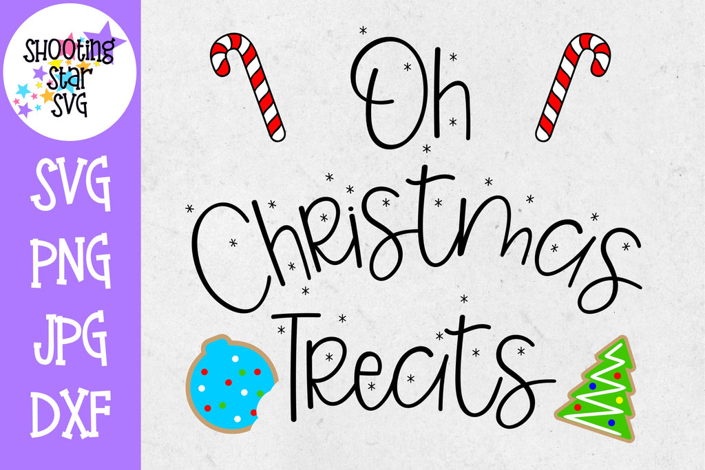 Oh Christmas Treats SVG - Candy Cane SVG - Christmas SVG
