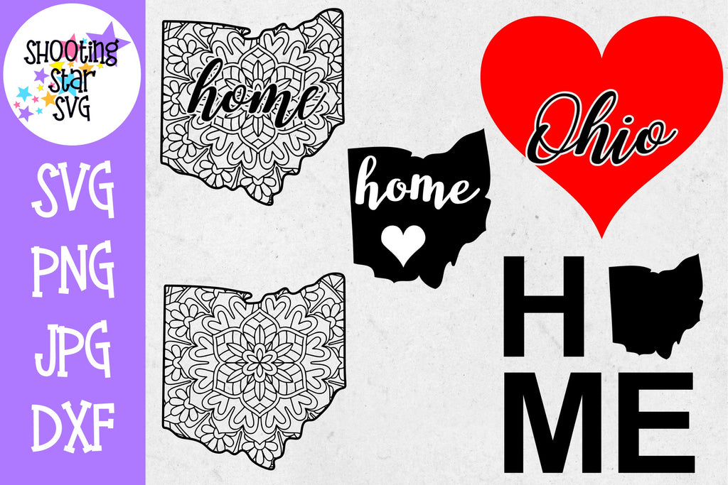 Ohio US State SVG Decal Bundle - 50 States SVG