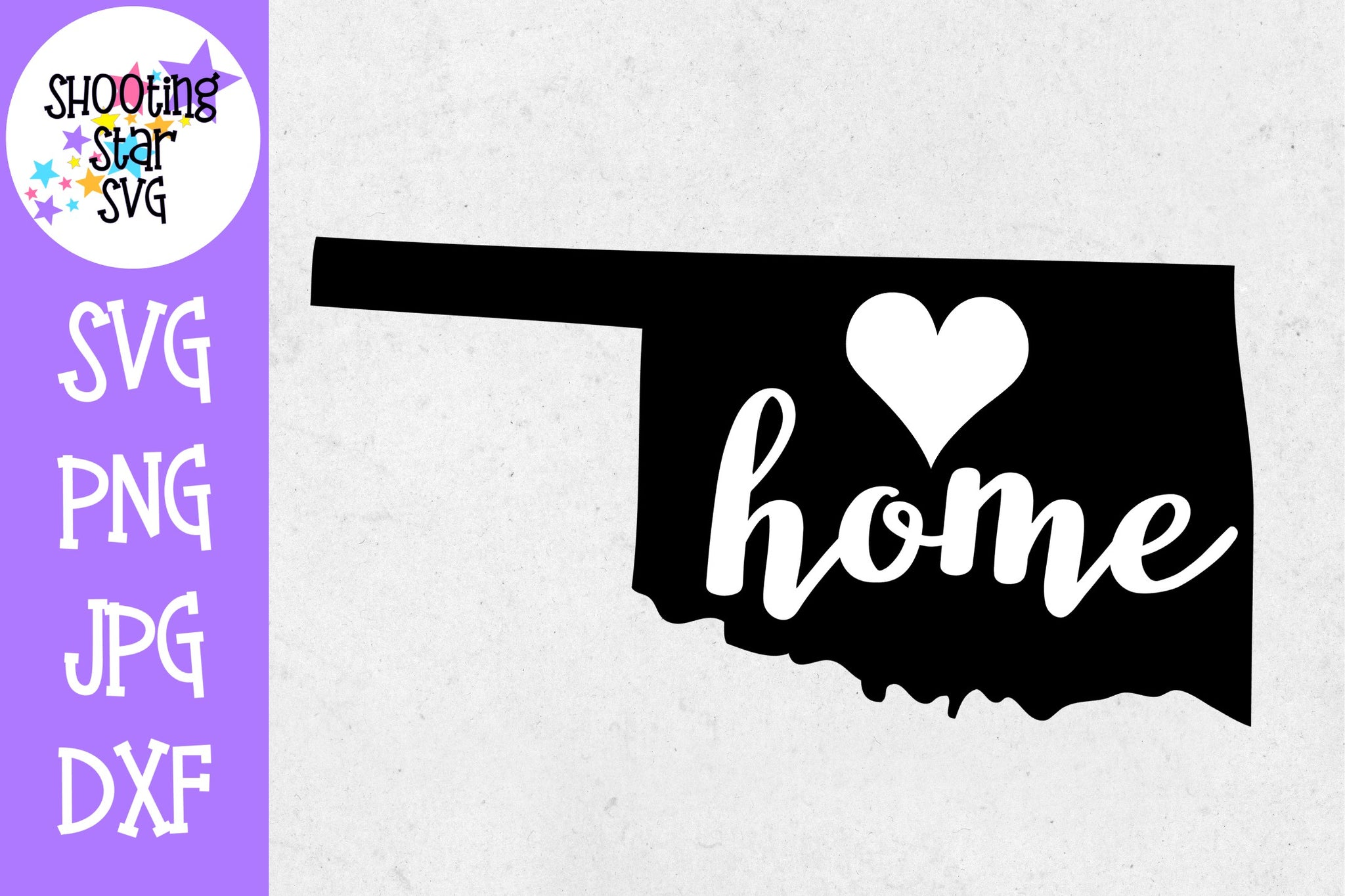 Oklahoma State Home with Heart SVG - 50 States SVG - United States SVG