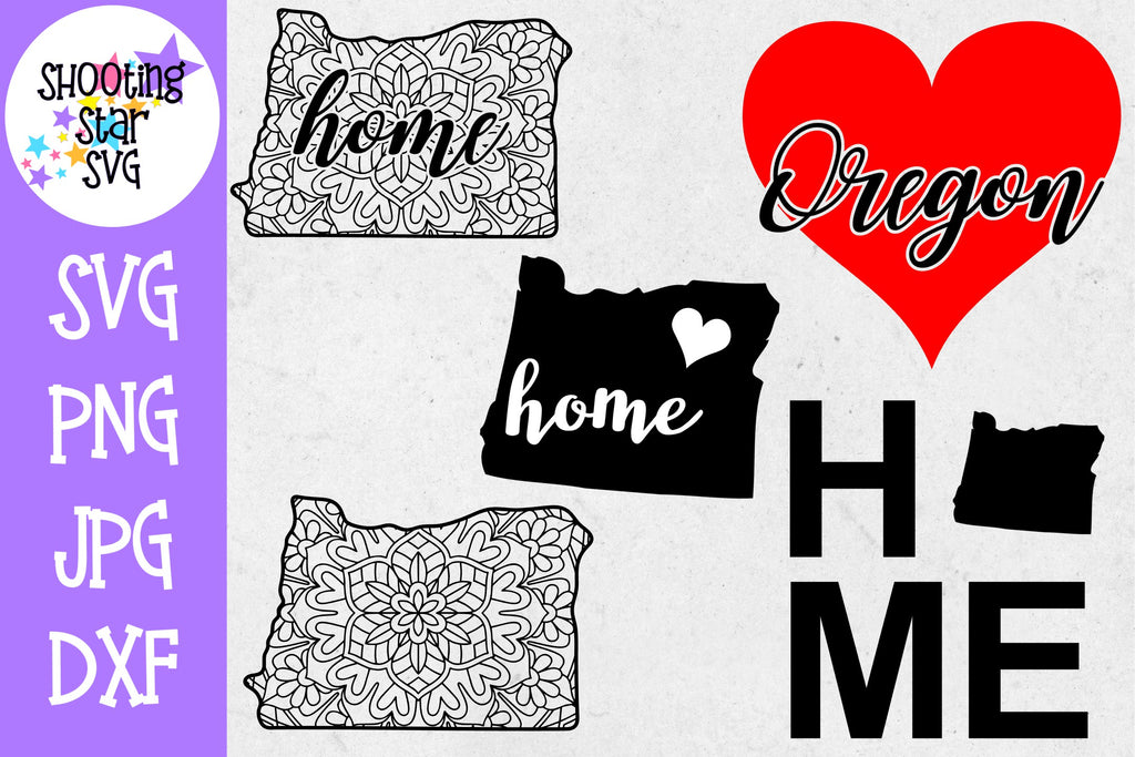 Oregon US State SVG Decal Bundle - 50 States SVG