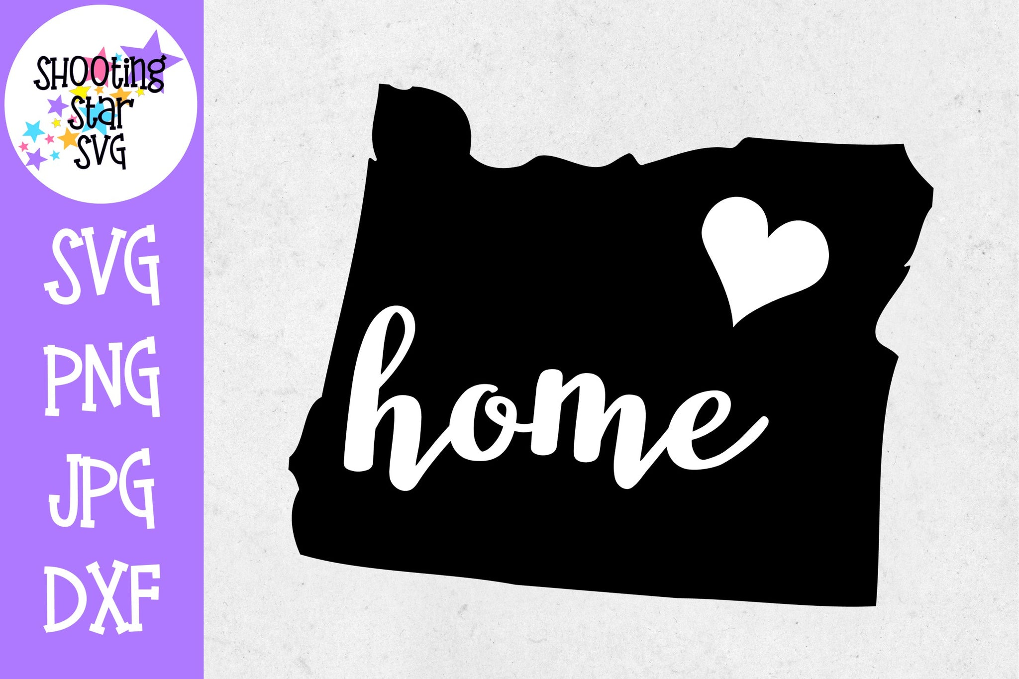 Oregon State Home with Heart SVG - 50 States SVG - United States SVG