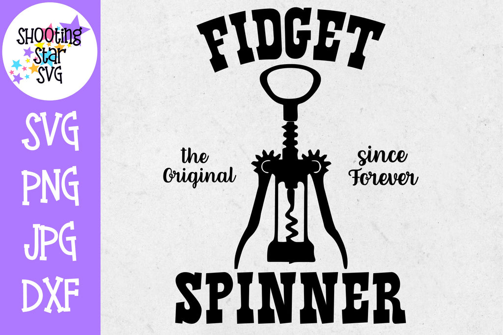 Original Fidget Spinner - Wine Lover SVG