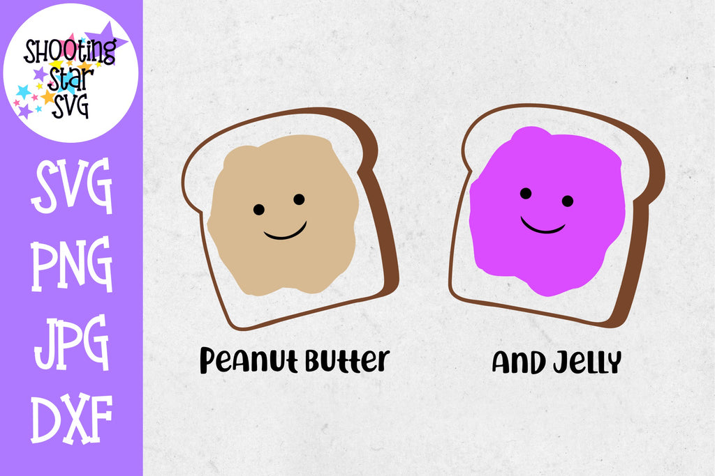 Peanut Butter and Jelly - Twin Bodysuit SVG