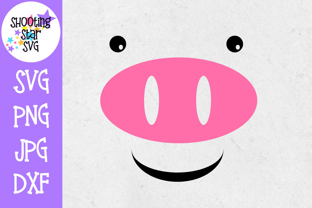 Pig Face SVG - Farming SVG - Children's SVG