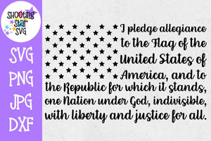 Pledge of Allegiance American Flag - Fourth of July SVG