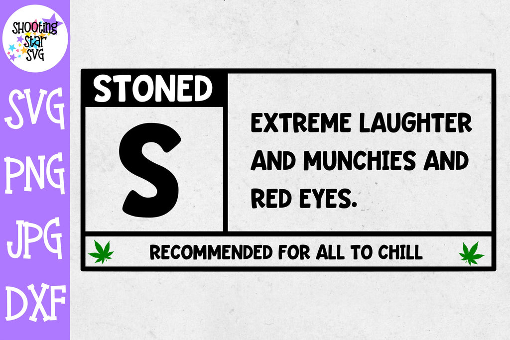Rated S for Stoned svg - Weed SVG - Marijuana SVG - Rolling Tray SVG