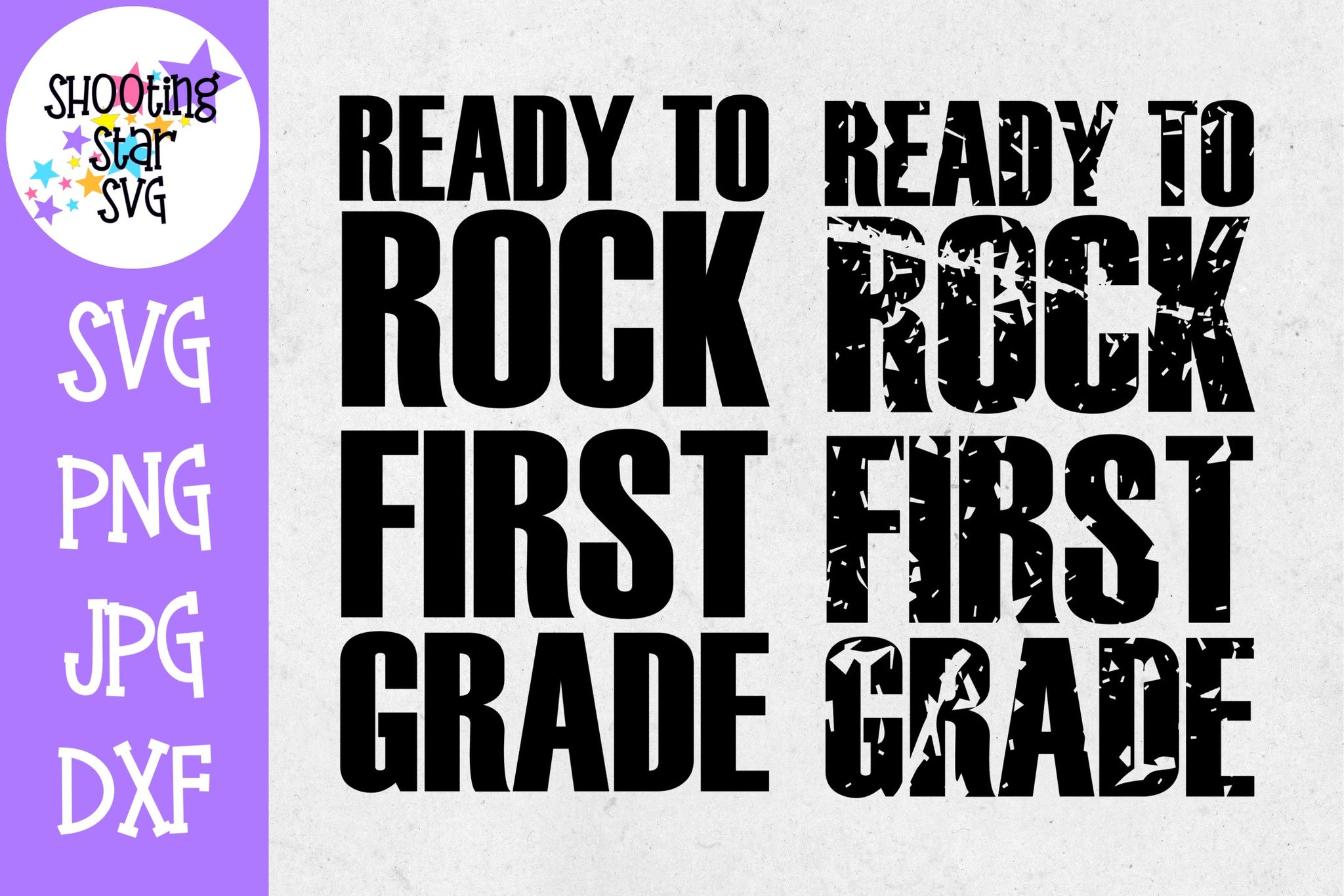 Ready to Rock First grade - School Milestones SVG - Last Day of School SVG