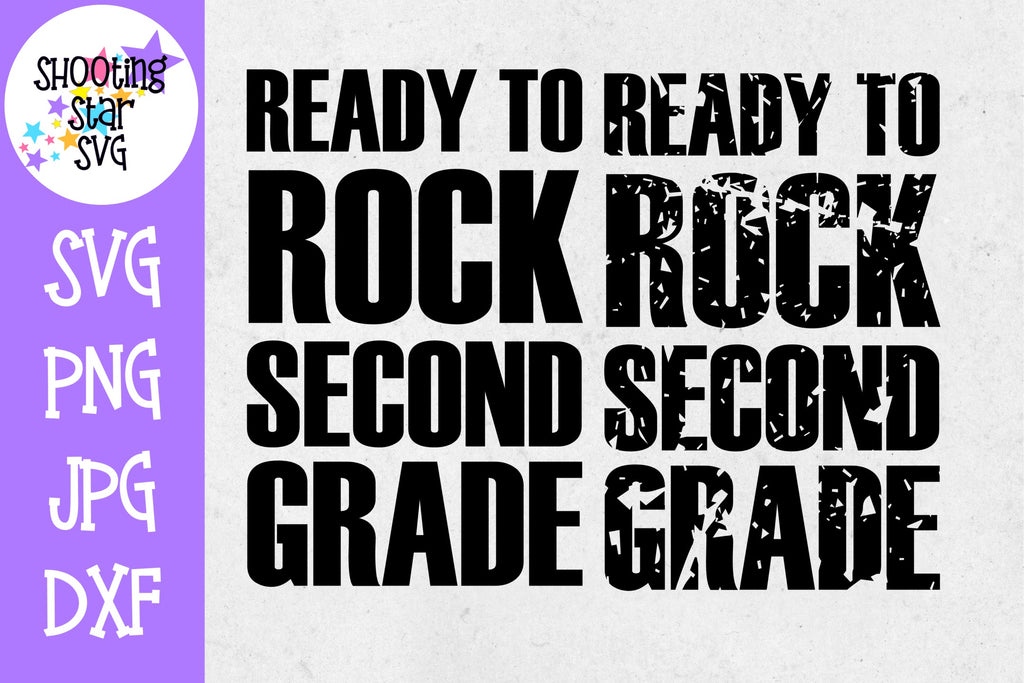 Ready to Rock Second grade - School Milestones SVG - Last Day of School SVG