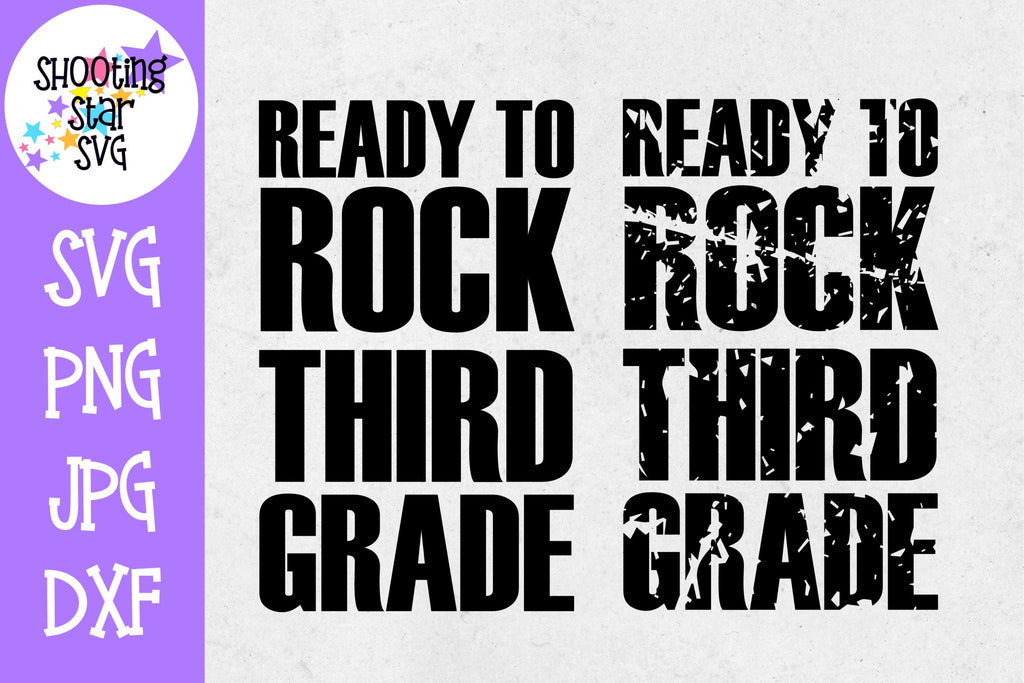 Ready to Rock Third grade - School Milestones SVG - Last Day of School SVG