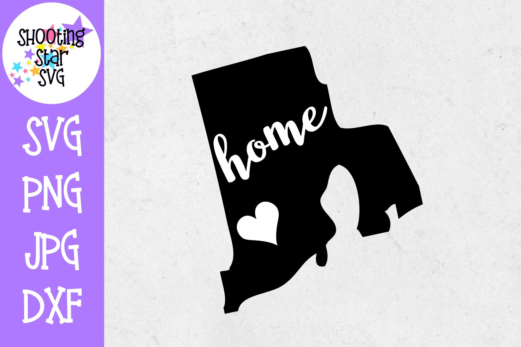 Rhode Island State Home with Heart SVG - 50 States SVG - United States SVG